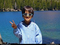 Photo by outofthisnature | Mammoth Lakes  boy, sunglasses, lake